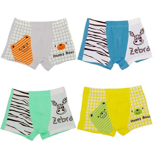 f55bd74fd 4 unids pack 4 estaciones niños Ropa interior Pantalones bebé Niños Niñas  boxeador Pantalones cortos