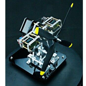 2-cylinder Airplane Shape Hall Sensor Engine Magnetic Engine Model