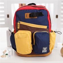 Высокое качество детей холст сумка кампус рюкзаки для девочек-подростков мальчики дети ранцы студенты Mochila эсколар мешок душ