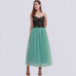Image 5 - מסיבת רכבת אופנה נשים תחרת נסיכת פיות 4 שכבות 100 cm וואל טול חצאית נפוחה Bouffant אופנה חצאית ארוך טוטו חצאיות