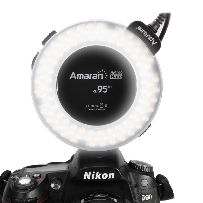 ФОТО Macro Ring Flash High CRI CRI95+ Aputure Amaran HN100 Flash Light with 8 Adapters  for Nikon Camera