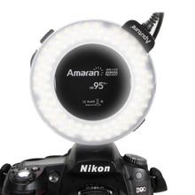 Macro Ring Flash Haute CRI CRI95 + Aputure Amaran HN100 Flash Lumière avec 8 Adaptateurs pour Nikon Caméra