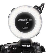 Macro Ring Flash High CRI CRI95+ Aputure Amaran HN100 Flash Light with 8 Adapters  for Nikon Camera