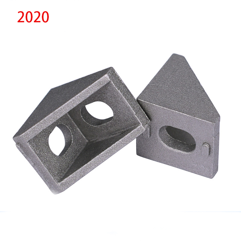 20pcs 2020 Corner Fitting Angle Aluminum 20 X 20 L Connector Bracket Fastener Match Use 2020 Industrial Aluminum Profile