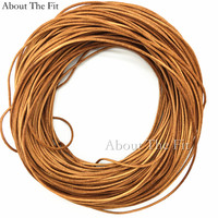 About the Fit Genuine Cow Leather Cords 1.5mm 100M Jewelry Making Handcrafting Necklace Bracelet Beading Ropes Clothing Tag Line