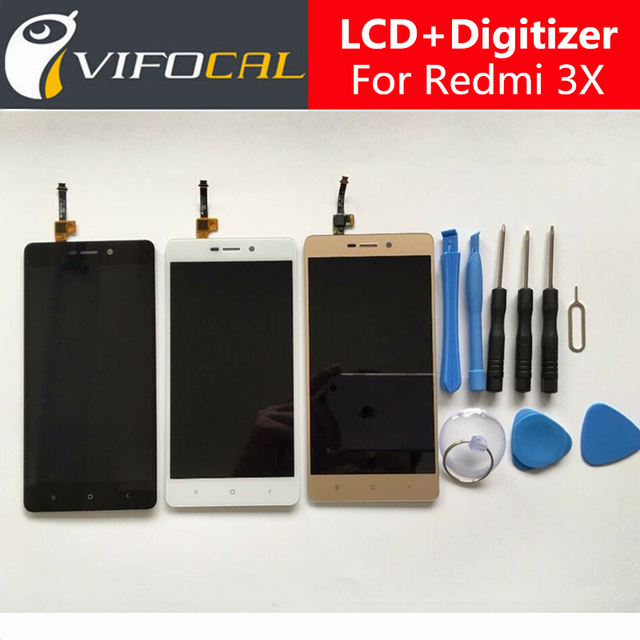 For Xiaomi Redmi 3X Lcd display touch screen Sensor + Tools 100% New Digitizer Replacement For Xiaomi Redmi 3X Red mi 3 5.0 inch