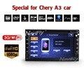 Два Дин 7 Дюймов Dvd-плеер Автомобиля Для Chery/Очень/A3/A5/Tiggo/Пасху С 3 Г Хост GPS Радио RDS BT ТВ 1080 P Ipod Бесплатно карты