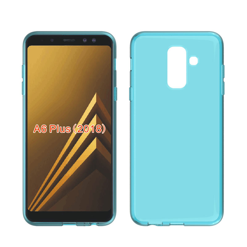 Skid-proof Soft TPU Transparent Silicone Clear Case Cover for Samsung Galaxy A6 PLUS 2018Skid-proof Soft TPU Transparent Silicone Clear Case Cover for Samsung Galaxy A6 PLUS 2018