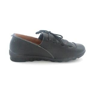 Image 4 - BEYARNE חדש אופנה עור מוקסינים נשי נוח יולדות שטוח נעלי העקב אחת נעליים יומיומיות משלוח Drop חינם