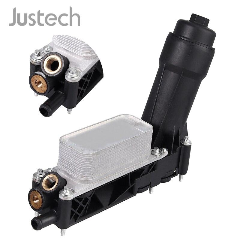 Justech Auto Oliekoeler Filter Behuizing 5184294AE/AD/AC Voor DODGE RAM CHRYSLER JEEP 3.6L V6 Motorolie filter Adapter Behuizing