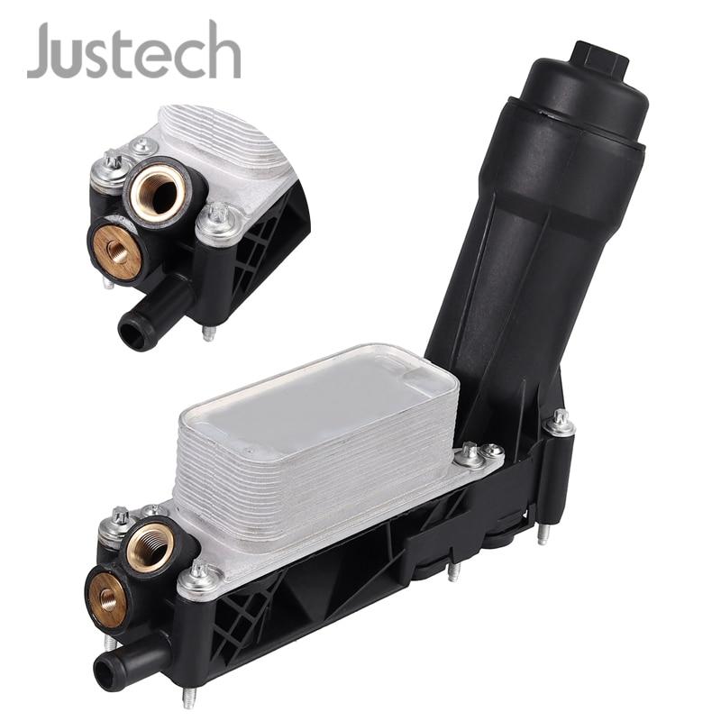 Justech voiture refroidisseur d'huile filtre logement 5184294AE/AD/AC pour DODGE RAM CHRYSLER JEEP 3.6L V6 moteur filtre à huile adaptateur logement