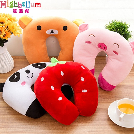 New Cute Baby Pillow U Shape Headrest Cartoon Design Kids Baby Pillow Neck Protector Travel Toys For 1 years Up Old HB Baby цены онлайн