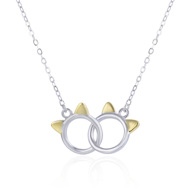 YJAX002269 New Fashion S925 Sterling Silver Jewelry Laides Luxury Accessories Simple OL Student Pendant Necklace