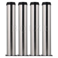4 Pcs 11 7 Inch Silver Stainless Steel Kitchen Cabinet Shelves Legs Adjustable