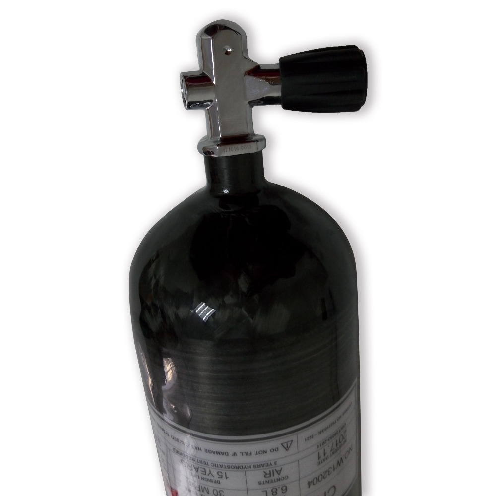 Acecare Pcp Accessories Paintball HPA Tank Cylinder Pcp Hunting Equipment 4500psi M18*1.5 Thread With YOKE Diving Valve