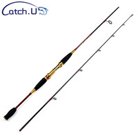 Catch.U 1.8 M Fishing Rod Spinning Red Hard Ocean Boat Casting Rods Spinning Fishing Rod Carbon Spinnings