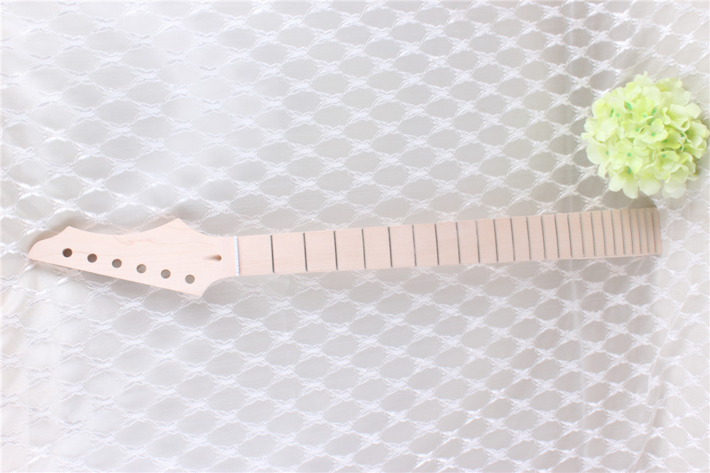 7313#New one black   22  fret  white  Good Unfinished electric   guitar neck   maple    made  and maple   fingerboard 7313 new one black 22 fret white good unfinished electric guitar neck maple made and maple fingerboard