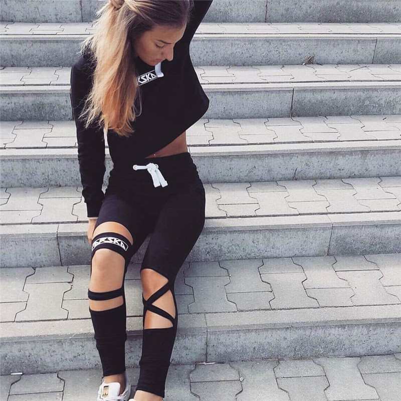 2017 Two Piece Set Tracksuit Camouflage Sexy Sleeveless Sweatsuits For Women Sets Cropped Survetement femme military 5