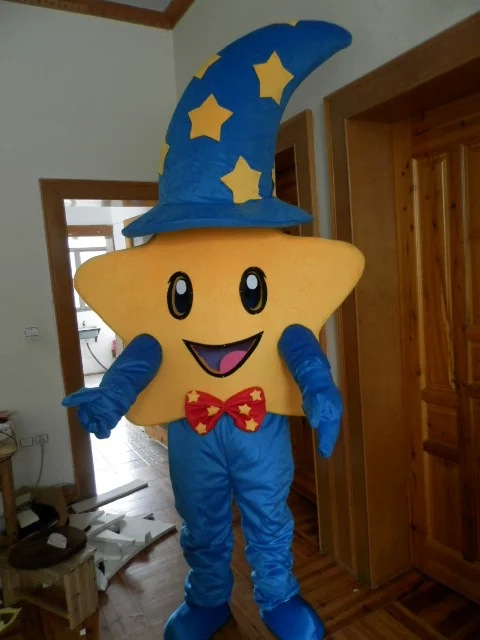 Newest Star Mascot Costume Five Stars Cartoon Character Mascotte Outfit Suit Fancy Dress for Halloween Carnival Party Events