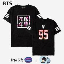 BTS Kpop Bts Bangtan Meninos Camiseta Jungkook Streetwear Harajuku  Confortáveis Mulheres homens Casual Bts Me Salvar Asas T-. 87347e25eadd1