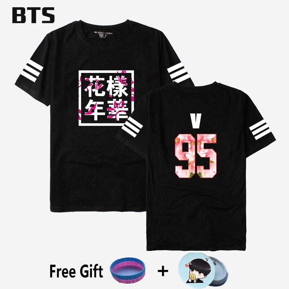 BTS Kpop Bts Bangtan Boys T-shirt Jungkook Streetwear Harajuku Komfortable Frauen/männer Casual Bts Außer Mir Flügel T-shirt Plus Größe