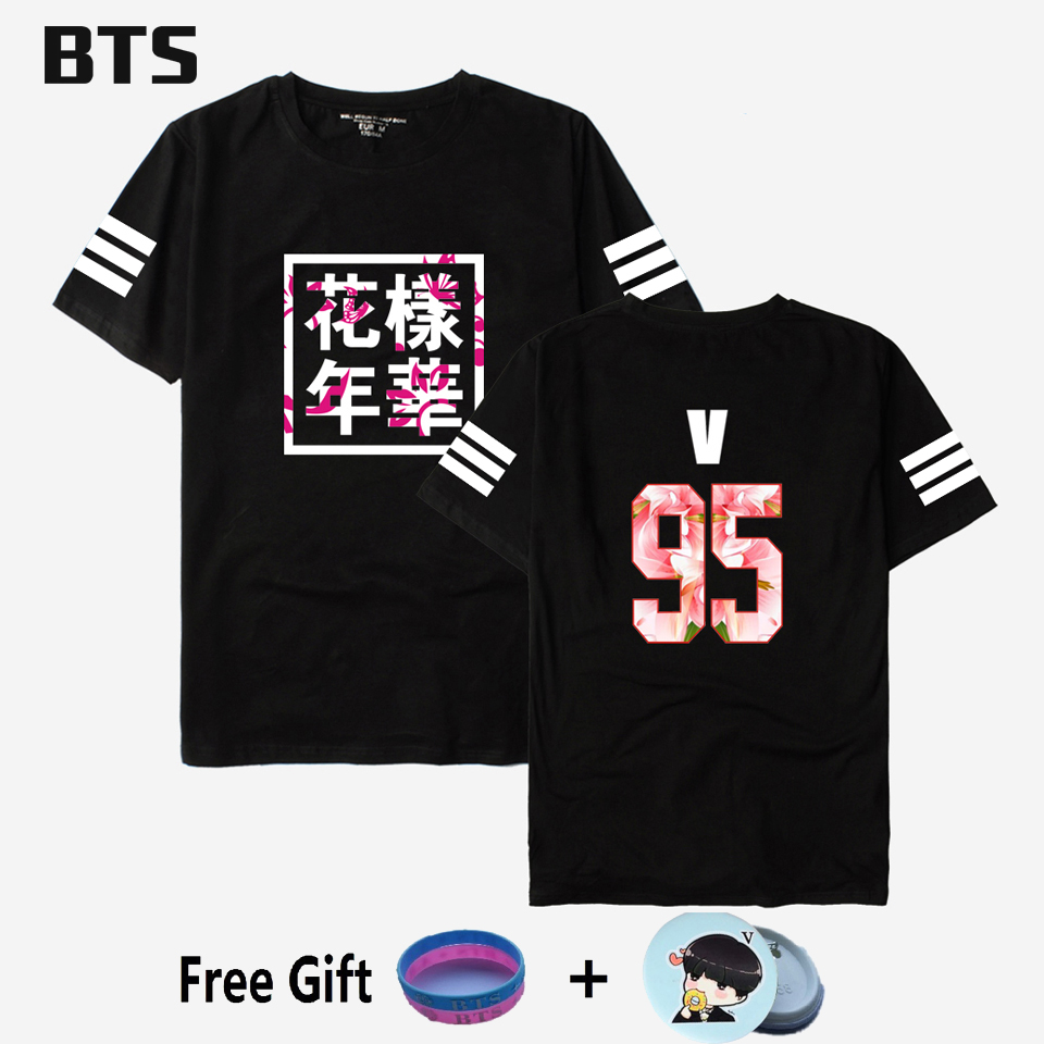BTS Kpop Bts Bangtan Meninos Camiseta Jungkook Streetwear Harajuku Confortáveis Mulheres/homens Casual Bts Me Salvar Asas T-shirt plus Size