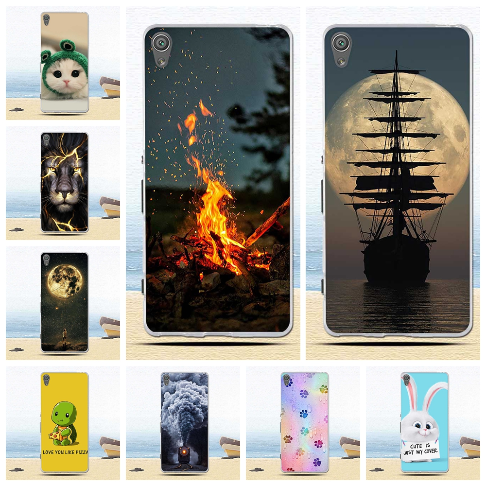Phone-Case Back-Cover Flower Sony Xperia Xa1-Plus Fashion F3112 Painted Soft-Silicone
