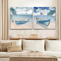 Ships Ocean Beach Landscape Painting Decorative Painting Canvas Art Home Office Living Room Decor Free Shipping