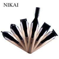 NIKAI Professional Hair Trimmer 6 In 1 Hair Clipper Shaver Sets Electric Shaver Beard Trimmer Hair