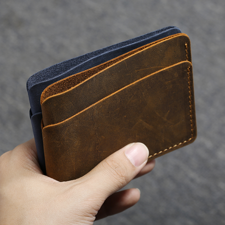 Vintage Handmade Bank Card Holder Men Genuine Leather Minimalist Clip Wallet for Credit Cards Business Holder Card Cover fashion genuine leather men card holder cow leather card id holders business bank card holder minimalist wallet for credit cards