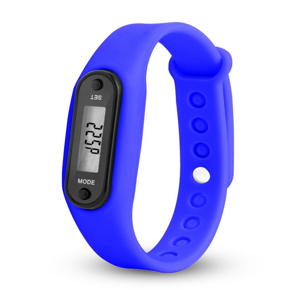 Digital Dark Blau Lcd Uhr Run Schritt Walking Distance Calorie Pedometer Silikon Kalorien Sport Armband Uhr Für Drishipping N0 SchüTtelfrost Und Schmerzen Schrittzähler