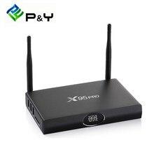 S905X X95 PRO Amlogic Caixa de TV Android Quad Core 2 GB 16 GB TV Box Android 6.0 TV BOX Wifi HDMI 2.0A Pré-instalado Set Top Box