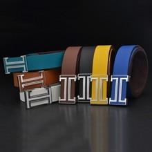 Las nuevas mujeres de la PU cinturones de cuero de los hombres de marca  famosa 8a8212770cb6