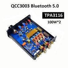 TPA3116 2.0 스테레오 디지털 전력 증폭기 100W * 2 QCC3003 Bluetooth 오디오 증폭기 5.0 pcm5120 dac