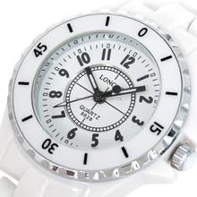 De lujo Blanco De Cerámica Resistente Al Agua Clásico Fácil Leer Deportes Reloj de Las Mujeres, Envío Libre de Calidad Superior de la Señora relojes De Cerámica