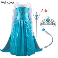 High Quality Elsa Anna Girls Princess Children Dress Party Kids Fantasia Vestidos Infants Baby Dresses Baby