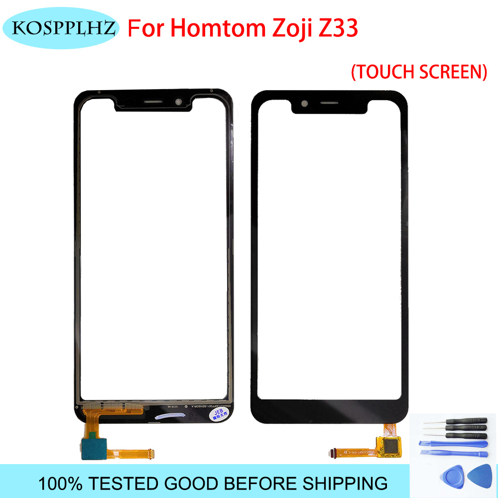 KOSPPLHZ Tape Mobile Phone Touchscreen For Homtom Zoji Z33 Touch Screen Panel Digitizer Front Glass Sensor Z 33 Accessories image