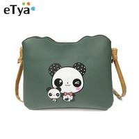 Fashion Panda Printing Mini Shoulder Bags Women Messenger Bag Clutch Handbag Purses PU Leather Vintage Ladies