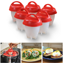 IVYSHION 6PC Egglettes Silicone Egg Cooker Hard Boil Egg Container Mold Egg Poachers Kitchen Egg Tools Drop Shipping