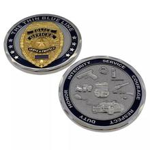 THE THIN BULE LINE - Services & Protect Challenge Coin- new style hot sale Police officer Commemorative Coin, free delivery