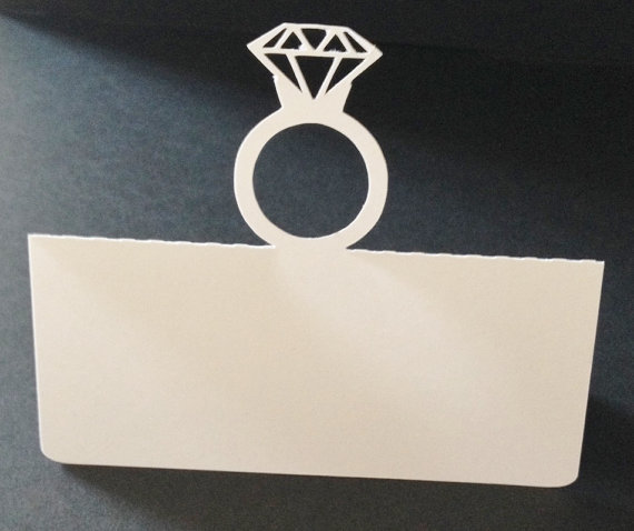 Diamond Ring Place Cards Holiday Wedding Dinner Party Seating
