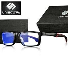 UNIEOWFA-gafas deportivas TR90 para hombre, montura transparente, gafas con montura óptica, gafas de prescripción de miopía