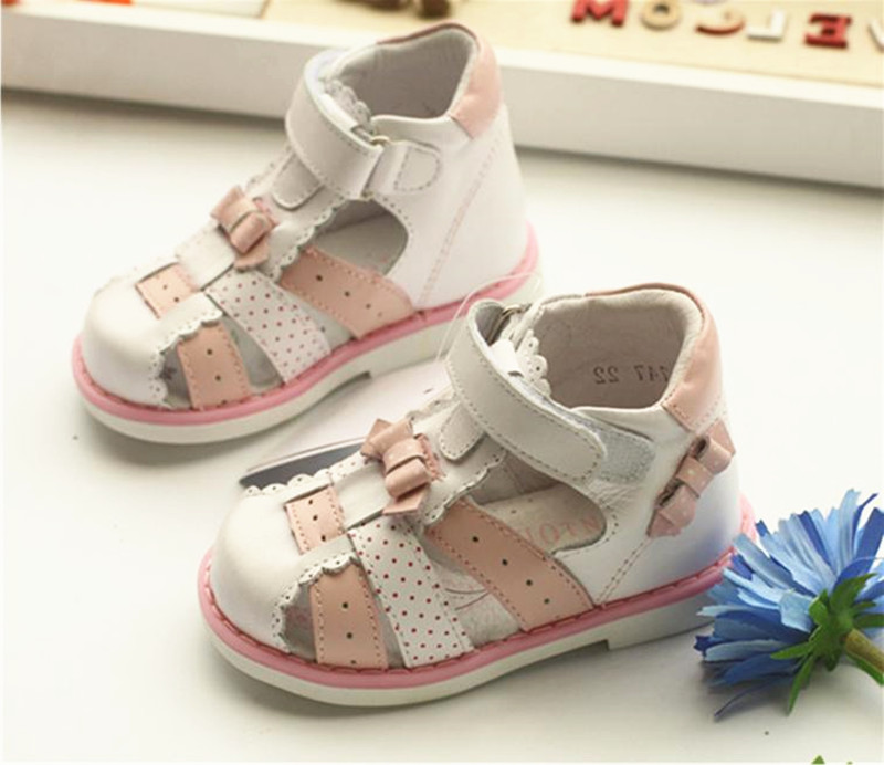 NEW 1pair Kids Genuine Leather,Children Orthopedic Shoes summer Sandals, Kid/Baby Child Sandals брюки tru trussardi р 40it 44ru int