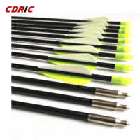 6/12/24PCS Fiberglass Arrows Archery Spine 700 Length 31'' With Target Point For Recurve Bow Hunting