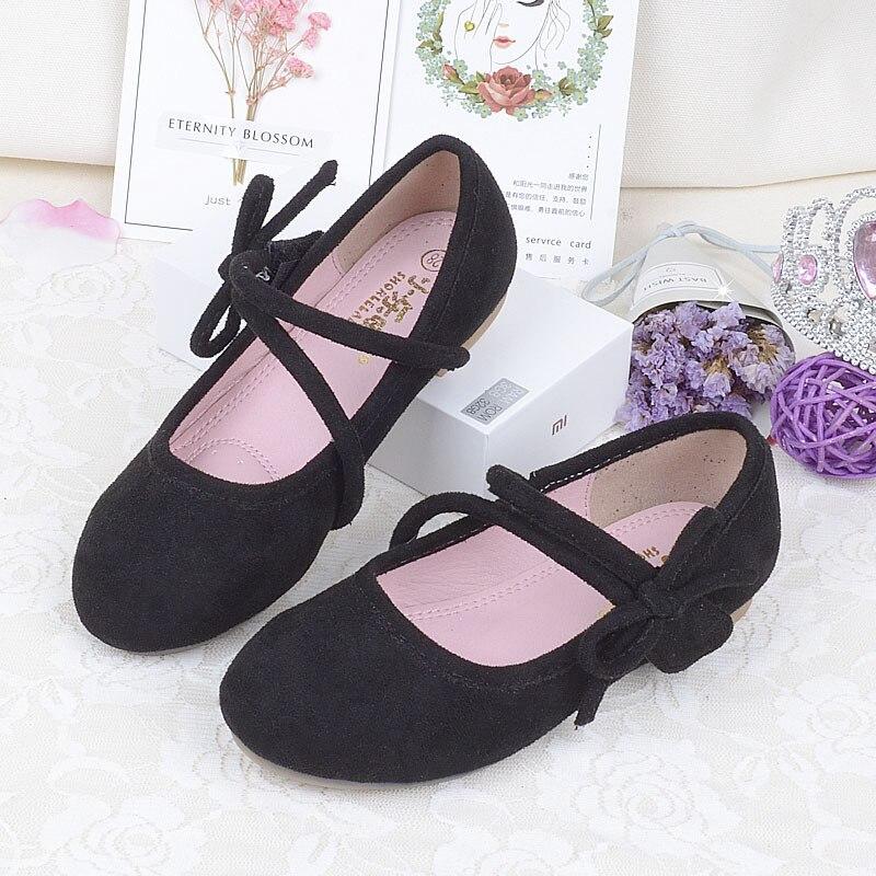 학생 캐주얼 패션 운동화 핑크 블랙 브라운 공주 드레스 신발 부드러운 편안한 신발 #24-35 레트로 여자 플랫 신발