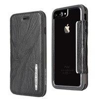 Pierre Cardin Genuine Leather Phone Case For Apple iPhone 8/8 Plus 7/7 Plus Detachable Flip Bracket Soft Silica Gel Cover Case