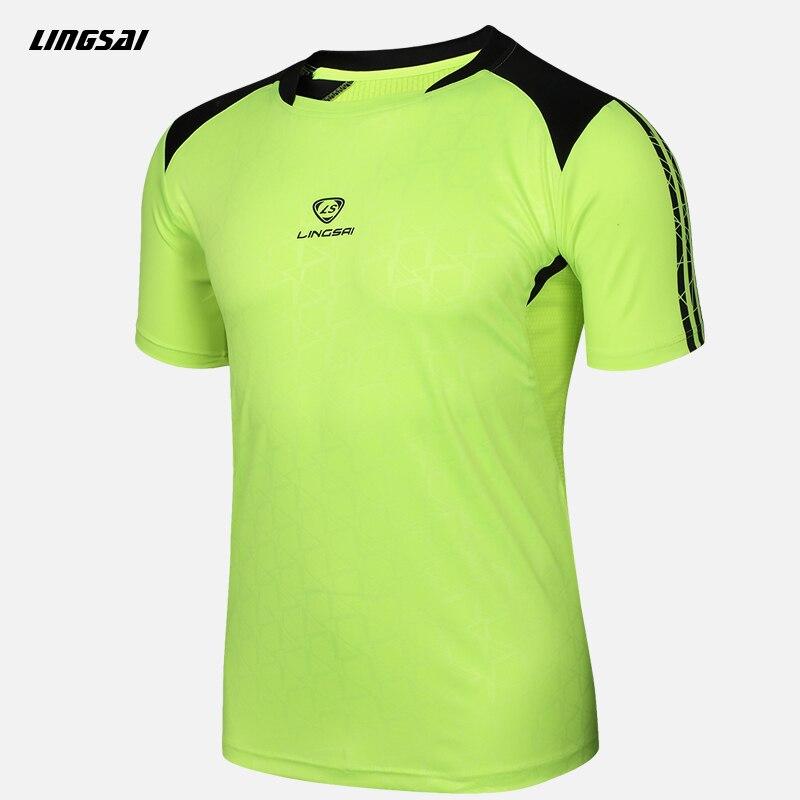LINGSAI Summer Style T Shirt New Soccer Jersey Running Quick Dry ...