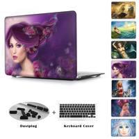 Syrenka Księżniczka Córka Morza wydrukowano rękawem Case Retina Air 11 12 13 Pro 13 15 dla Apple Macbook Trudno laptopa dziewczyny shell