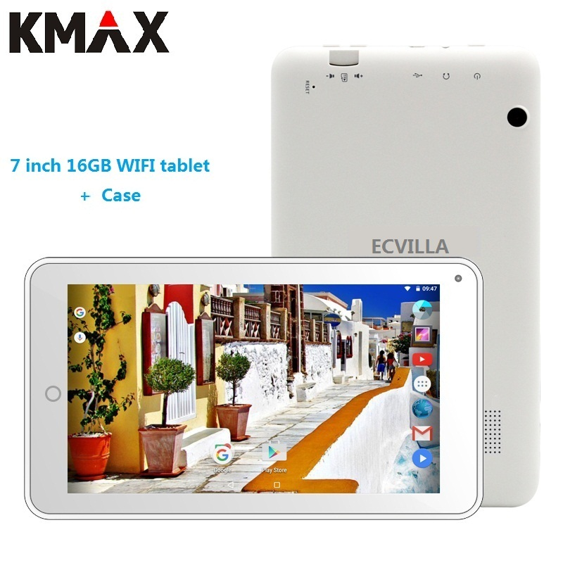 KMAX 7 inch wifi tablet pc android 7.0 Quad Core 16GB RAM GPS bluetooth New mini tablets pc kids 8 9 10 pad cheap case keyboard kmax tablet pc 7 inch ips quad core android 7 0 google tablets dual camera bluetooth 16gb rom wifi tablets k a7i quad