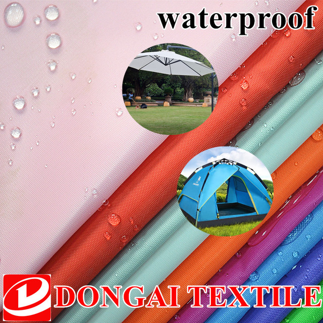 100*150cm Size 210D Waterproof Polyester Oxford Fabric With Pu Coated For